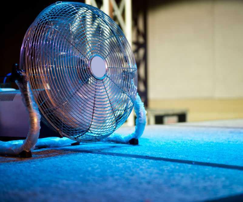 blue fan light