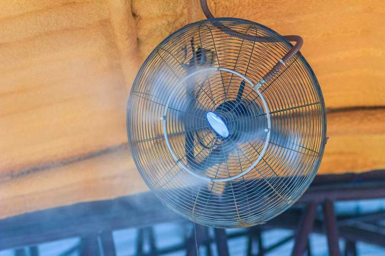 Misting Fan Wood