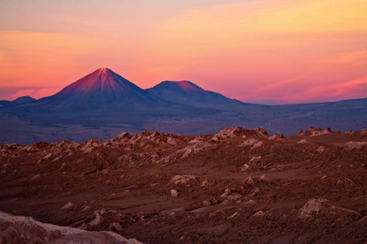 Atacama desert, Chile. One of the driest places on Earth.